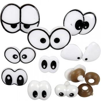 Lustige Augen, Größe 2-3 cm, 20 Stück