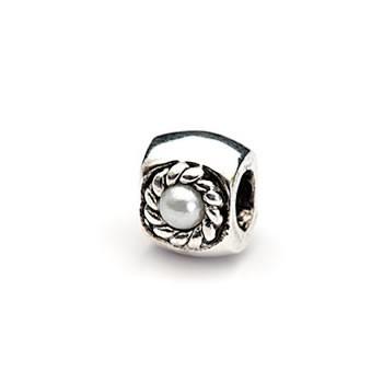 Metallperle, Perle im Kranz, Großlochperle