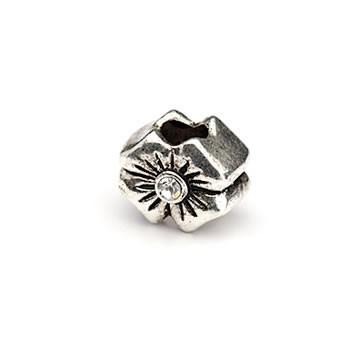 Metallperle, Blume, Großlochperle