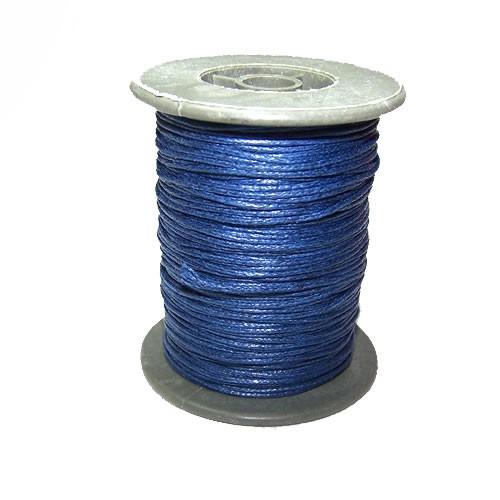 Baumwollkordell, Blauschwarz, 1mm, 1 Meter