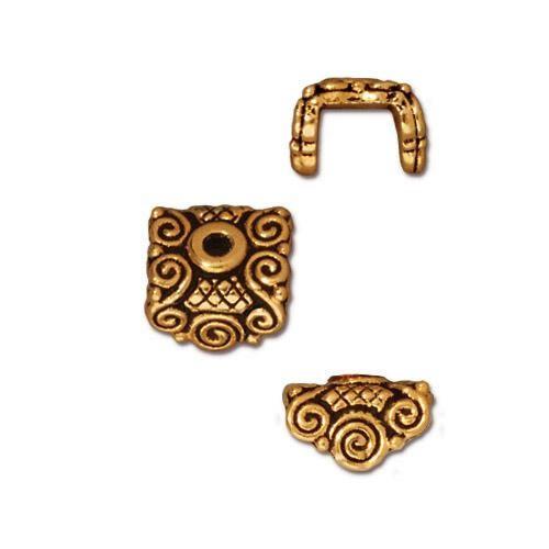 Perlkappe, Antik Vergoldet, Oriental, 1 Stück