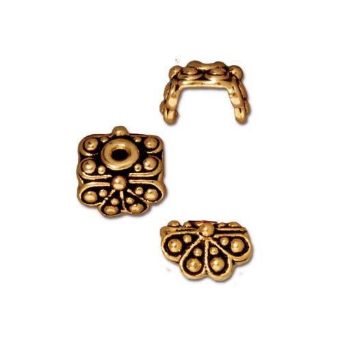 Perlkappe, Antik Vergoldet, Fächer, 1 Stück