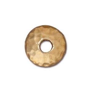 Perlkappe, Gehämmert, 10mm, Vergoldet, 1 Stück