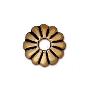 Perlkappe, Joy, 10mm, Antik Vergoldet, 1 Stück