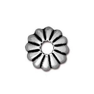 Perlkappe, Joy, 10mm, Antik Versilbert, 1 Stück