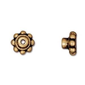 Lochanpasser, Bead Aligner, 6mm, Antik Vergoldet, 1 Stück