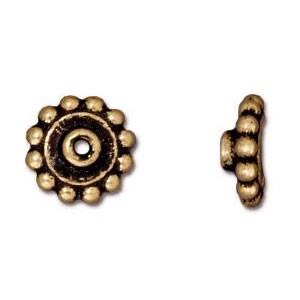 Lochanpasser, Bead Aligner, 8mm, Antik Vergoldet, 1 Stück