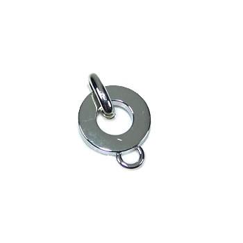 Charmträger, Silberfarben, ca. 12mm, 1 Stück