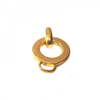 Charmträger, Goldfarben-Glänzend, ca. 15mm, 1 Stück