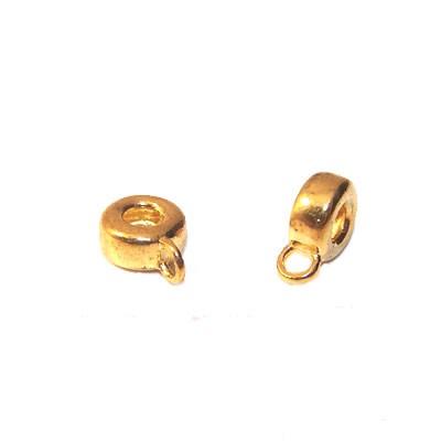 Charmträger für Armbänder, Goldfarben-Glänzend, klein, 1 Stück