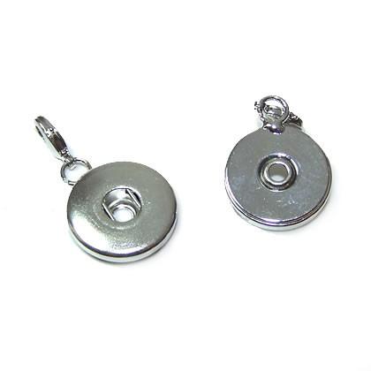 Double Beads Easy Button Anhänger, Verschluss, 17mm, 1 Stück