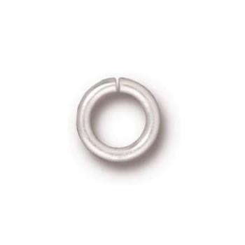 Biegering, Verbinder, 5mm, Rund, Versilbert, geöffnet, 1 Stück