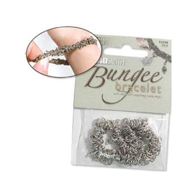 Bungee Armband, Silberfarben, 1 Stück