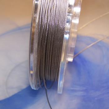 Collierdraht, silberfarben, 0,8mm, 1 Meter