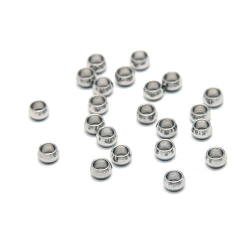 Perle, Rondell, 3,5x2mm, 304 Edelstahl, 50 Stück