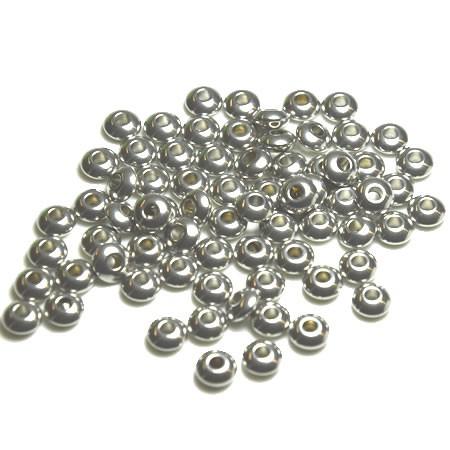 Perle, Rondell, 6x3mm, 304 Edelstahl, 10 Stück