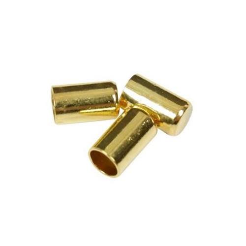 Endkappe, 2,5mm, Vergoldet, 10 Stück