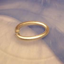 Eloxring, oval, Silberfarben, 1 Stück