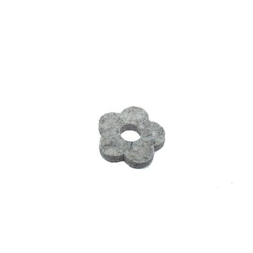 Filzscheibe, Blume, Hellgrau, 26mm, 1 Stück