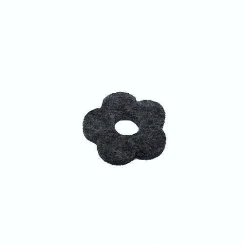 Filzscheibe, Blume, Dunkelgrau, 26mm, 1 Stück