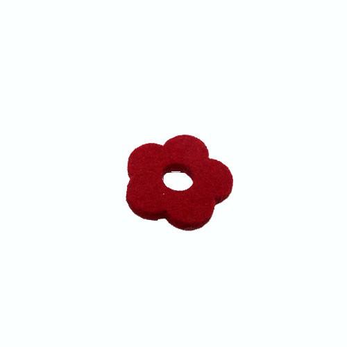 Filzscheibe, Blume, Rot, 26mm, 1 Stück