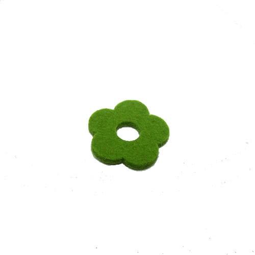 Filzscheibe, Blume, Grün, 26mm, 1 Stück