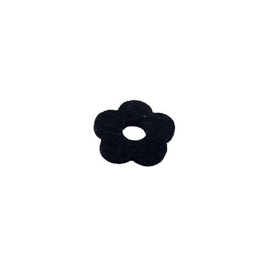 Filzscheibe, Blume, Schwarz, 26mm, 1 Stück