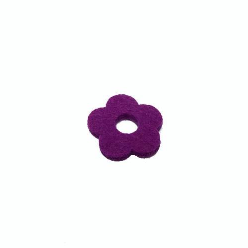 Filzscheibe, Blume, Lila, 26mm, 1 Stück