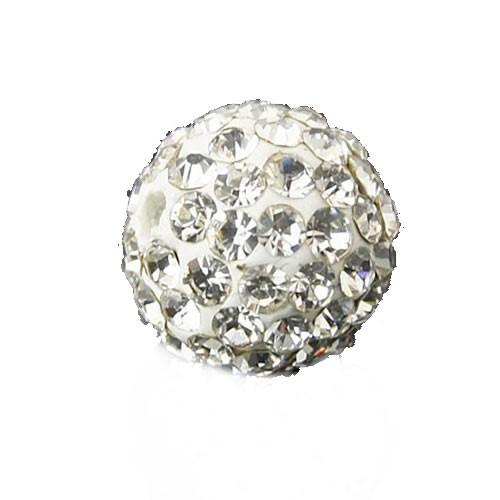 Polymer Clay, Fimoperle, Glitzerstein, Crystal, 10mm, B-Qualität, 20 Stück