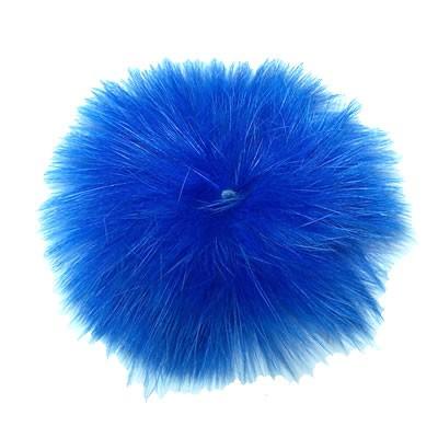 Fellpuschel, Cabochon, ca. 65-85mm, Blau, 1 Stück