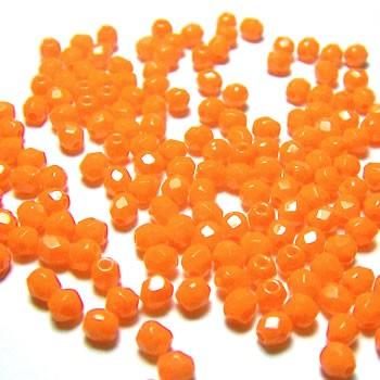 Glasschliffperle FP, Opaque Orange, 3mm, 100 Stück