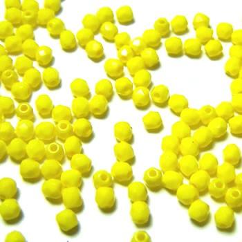 Glasschliffperle FP, Opaque Yellow, 3mm, 100 Stück