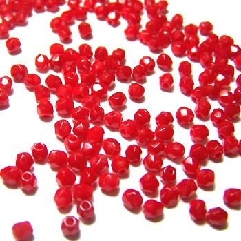 Glasschliffperle FP, Opaque Red, 3mm, 100 Stück