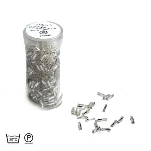 Stiftperle, Gedreht, Silbereinzug, 7mm, 1 Dose
