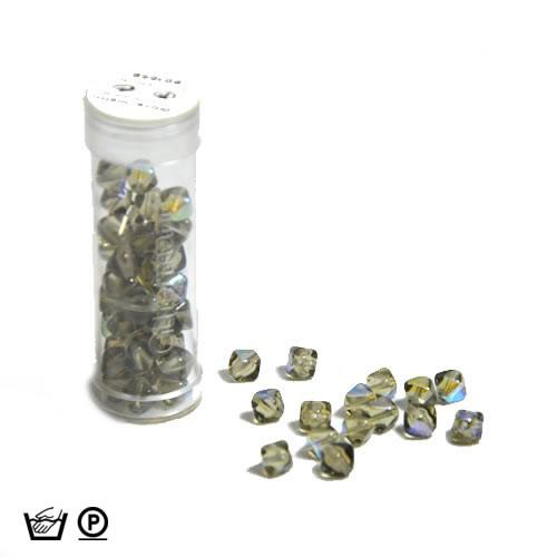 Pyramidenperle, 6mm, OlivAB, ca. 60 Stück