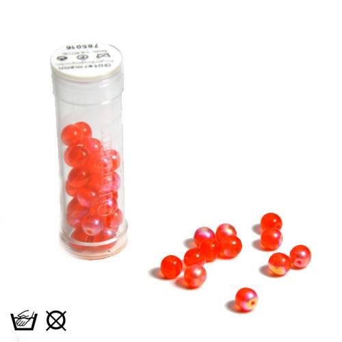 Regenbogenperle, 6mm, Orange AB, ca. 40 Stück