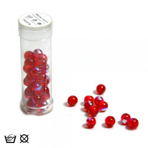 Regenbogenperle, 6mm, Rot AB, ca. 40 Stück