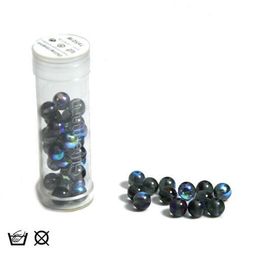 Regenbogenperle, 6mm, Nachtblau AB, ca. 40 Stück