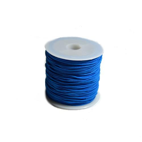 Gummiband, 1,2mm, Blau, 1 Meter