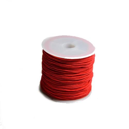 Gummiband, 1,2mm, Rot, 1 Meter