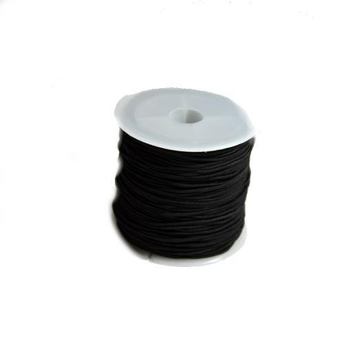Gummiband, 1,2mm, Schwarz, 1 Meter