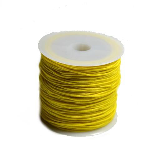 Gummiband, 1,2mm, Gelb, 1 Meter