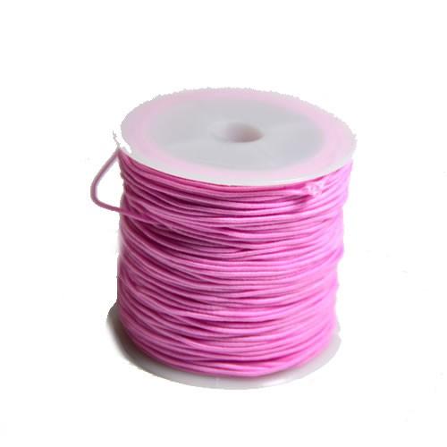 Gummiband, 1,2mm, Rosa, 1 Meter
