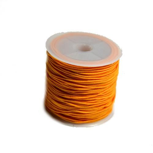 Gummiband, 1,2mm, Orange, 1 Meter