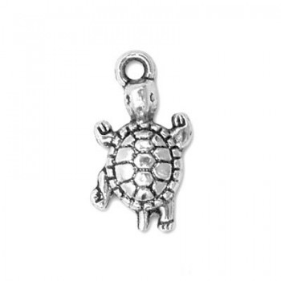 Metallanhänger, Baby-Schildkröten, Silberfarben, 1 Stück