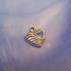 Herzanhänger, Herz in Herz, Silberfarben, 1 Stück