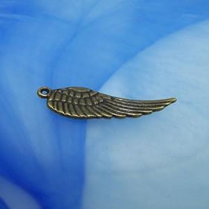Flügelanhänger, Mittelgroß, Bronzefarben, 1 Stück