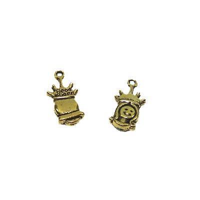 Metallanhänger, Prinzessin, Bead Queen, Goldfarben, 1 Stück