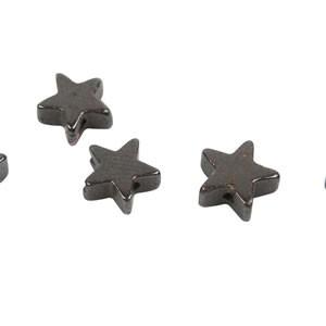 Hämatitperle, Stern, 6mm, 10 Stück