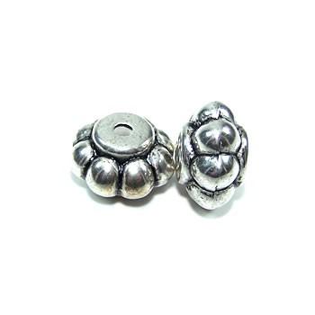 Perle, Flower, Kunststoff versilbert, 1 Stück